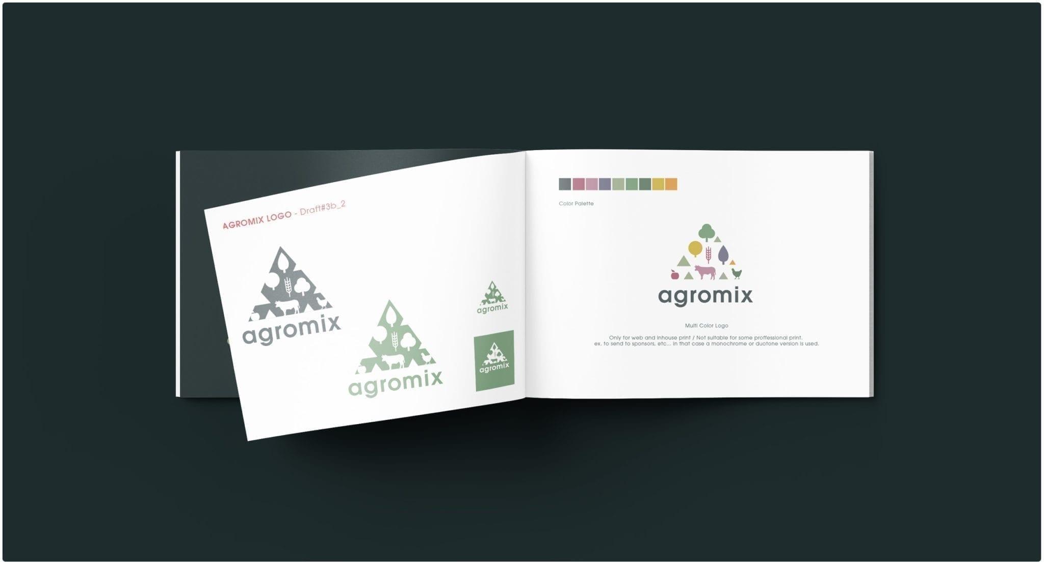 REVOLVE AGROMIX visual identity branding